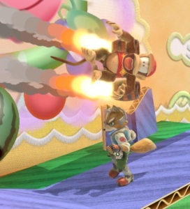 Diddy Kong using rocket boosters super Smash Bros ultimate Nintendo Switch