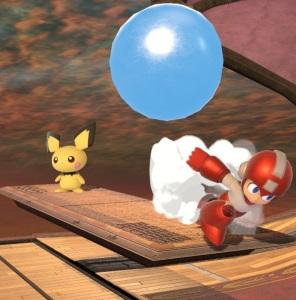 Pichu vs mega man Halberd Stage Super Smash Bros ultimate Nintendo Switch