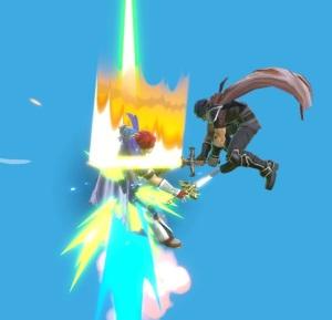 Ike hitting roy with sword super Smash Bros ultimate Nintendo Switch fire Emblem