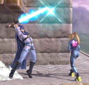 Ike vs zero suit Samus super Smash Bros ultimate Nintendo Switch fire Emblem