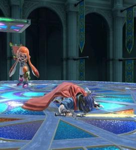 Ike laying on ground super Smash Bros ultimate Nintendo Switch fire Emblem