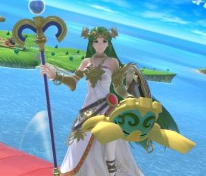 Palutena holding Beetle super Smash Bros ultimate Nintendo Switch