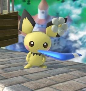 Pichu holding Boomerang super Smash Bros ultimate Nintendo Switch