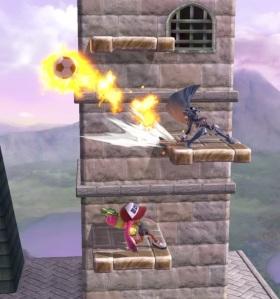 Fiery Soccer ball super Smash Bros ultimate Nintendo Switch
