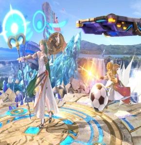 Princess Zelda uses soccer ball against palutena super Smash Bros ultimate Nintendo Switch