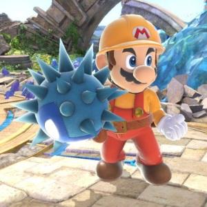 Mario holding Unira super Smash Bros ultimate Nintendo Switch