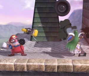 Wario vs Lady Palutena Super Smash Bros ultimate Nintendo Switch