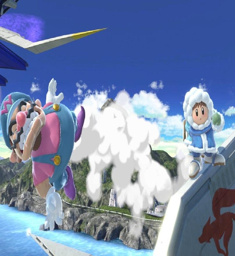 Wario vs ice climbers Super Smash Bros ultimate Nintendo Switch