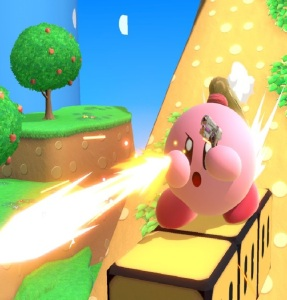 Kirby as zero suit Samus super Smash Bros ultimate Nintendo Switch Metroid