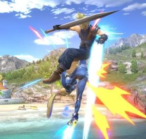 Zero suit Samus kicks cloud strife super Smash Bros ultimate Nintendo Switch Metroid