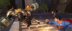 Man of Steel fighting robot Superman Returns Xbox 360