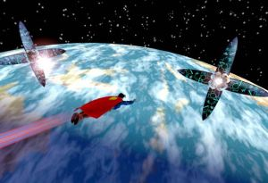 Flying in outer space Superman: The Man of Steel Xbox