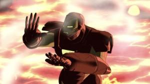 Tony stark in volcano The Invincible Iron Man 2007
