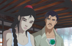 Tony stark and Chinese girl The Invincible Iron Man 2007