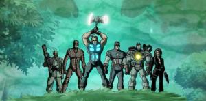 Thor using stormbreaker in Wakanda Ultimate Avengers 2 movie