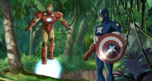 Iron man and captain America in Wakanda Ultimate Avengers 2 movie