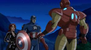 Black widow captain America Iron man Ultimate Avengers 2006 movie