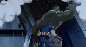 Hulk vs captain America Ultimate Avengers 2006 movie