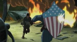 Captain America world War 2 Ultimate Avengers 2006 movie