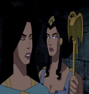 Princess Diana and her mother Wonder woman 2009 movie