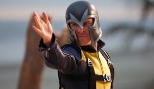 Magneto wearing helmet first time X-Men: First Class
