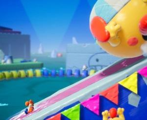 Boss fight Burt the Ball Yoshi's Crafted World Nintendo Switch