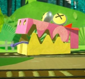 Gator Train defeated Yoshi's Crafted World Nintendo Switch