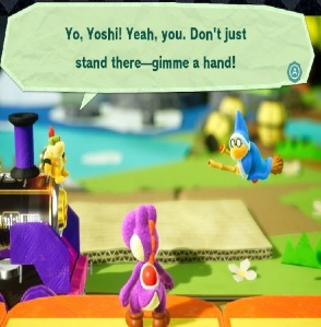 Kamek and Bowser Gator Train Yoshi's Crafted World Nintendo Switch