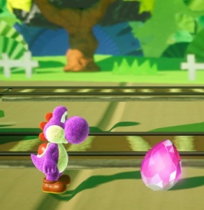 Pink dream gem Yoshi's Crafted World Nintendo Switch