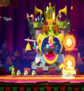 Boss fight The Great King Bowser Yoshi's Crafted World Nintendo Switch