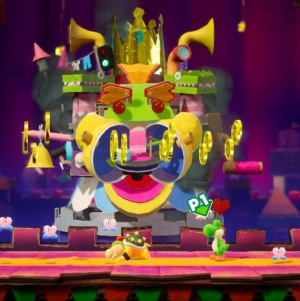 Boss battle Yoshi's Crafted World Nintendo Switch  The Great King Bowser