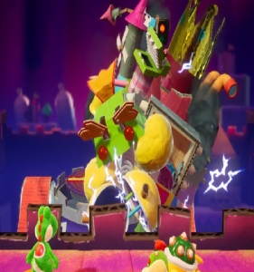 The Great King Bowser defeated Yoshi's Crafted World Nintendo Switch