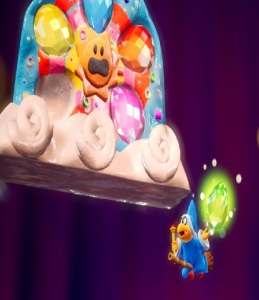 Kamek wishes for The Great King Bowser Yoshi's Crafted World Nintendo Switch
