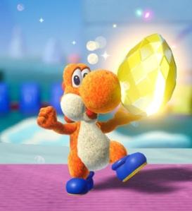 Yellow dream gem Yoshi's Crafted World Nintendo Switch