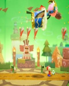 Boss battle Tin-Can Condor Yoshi's Crafted World Nintendo Switch