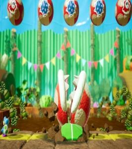 Boss battle Yoshi's Crafted World Nintendo Switch Spike the Piranha