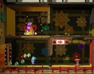 Boss battle The Shogun Yoshi's Crafted World Nintendo Switch