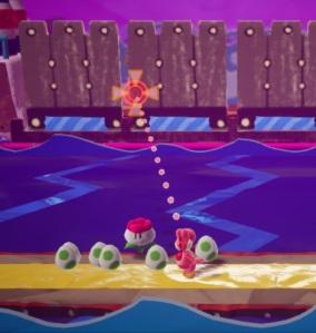 Boss Yarrctopus Yoshi's Crafted World Nintendo Switch