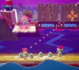 Boss battle Yarrctopus Yoshi's Crafted World Nintendo Switch