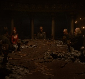 Stannis Baratheon war council dragonstone game of Thrones HBO