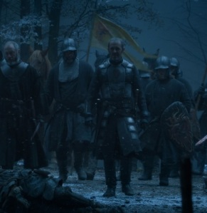 King Stannis Baratheon defeats Wilding army game of Thrones HBO