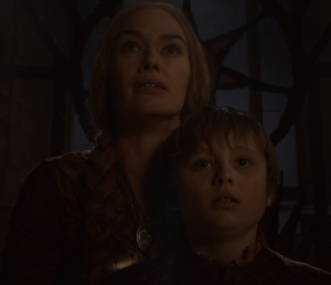 Tommen Baratheon and queen cersei iron throne game of Thrones HBO