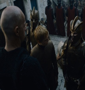 King Tommen and his Kingsguard game of Thrones HBO