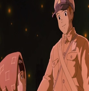 Setsuko and Seita go to the afterlife grave of the Fireflies