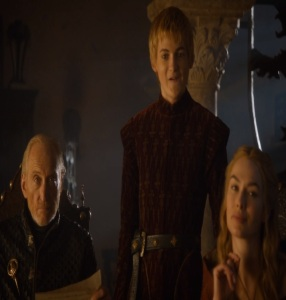 Joffrey Baratheon laughing about red wedding game of thrones HBO