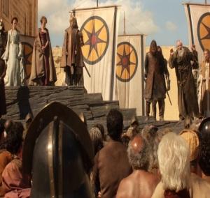 King Joffrey Baratheon orders execution of eddard Stark game of thrones HBO