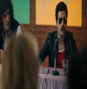 Freddie mercury press conference Bohemian Rhapsody movie