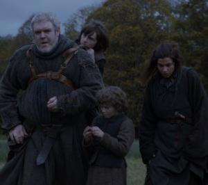Rickon Stark fleeing Winterfell game of thrones HBO