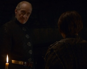 Tywin Lannister and Arya Stark game of Thrones HBO