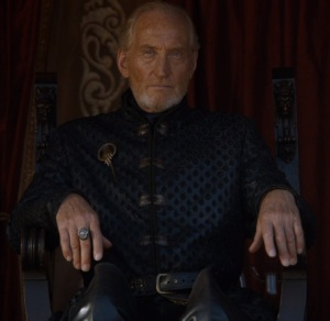 Tywin Lannister trial by combat watching game of Thrones HBO